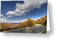Cherohala Skyway Greeting Card by Debra and Dave Vanderlaan
