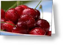 Cherries Greeting Card by Emanuel Tanjala