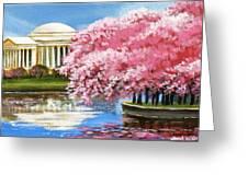 Cherry Blossom Festival Greeting Card by Sarah Grangier