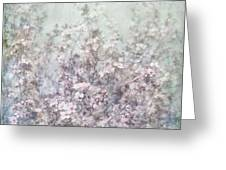 Cherry Blossom Grunge Greeting Card by Paul Grand