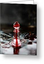 Chess Piece In Blood Greeting Card by Stephanie Frey