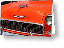Chevrolet Bel-air Stationwagon . Orange . 7d15269 Greeting Card by Wingsdomain Art and Photography