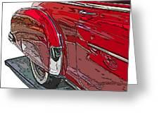 Chevrolet Fleetline Deluxe Rear Wheel Study Greeting Card by Samuel Sheats