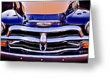 Chevrolet Pickup Truck Grille Emblem Greeting Card by Jill Reger