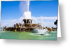 Chicago Buckingham Fountain Greeting Card by Paul Velgos