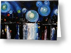 Chicago City Lights Greeting Card by Skye Taylor