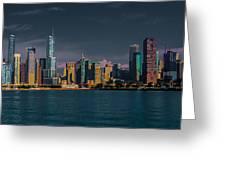 Chicago Cityscape Greeting Card by Jim DeLillo