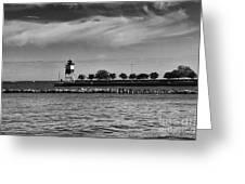 Chicago Lighthouse Greeting Card by Leslie Leda