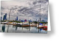Chicago N Sails Greeting Card by Emily Stauring