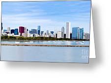 Chicago Panarama Skyline Greeting Card by Paul Velgos