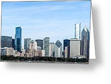 Chicago Panoramic Skyline High Resolution Picture Greeting Card by Paul Velgos