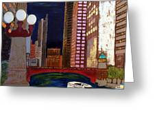 Chicago River Greeting Card by Char Swift