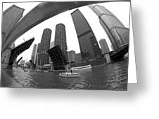 Chicago Sailboats Heading To Harbor Greeting Card by Sven Brogren
