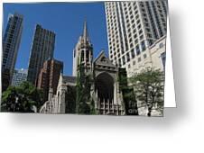 Chicago Skyline Greeting Card by Arlene Carmel