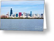 Chicago Skyline Greeting Card by Paul Velgos