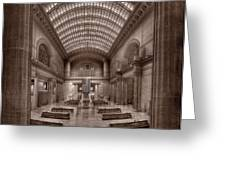 Chicagos Union Station Bw Greeting Card by Steve Gadomski