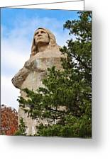 Chief Blackhawk Statue Greeting Card by Bruce Bley