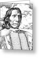 Chief-red-cloud Greeting Card by Gordon Punt