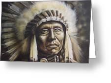 Chief Greeting Card by Tim  Scoggins