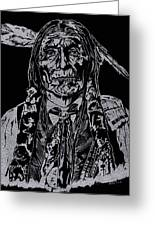 Chief Wolf Robe Greeting Card by Jim Ross
