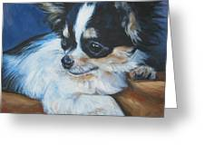Chihuahua Greeting Card by Lee Ann Shepard