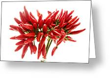 Chili Peppers Greeting Card by Fabrizio Troiani