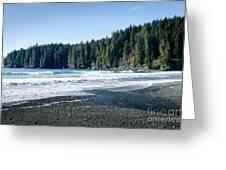 China Surf China Beach Juan De Fuca Provincial Park Bc Canada Greeting Card by Andy Smy