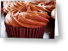 Chocolate Cupcakes Greeting Card by Jane Rix