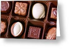Chocolates Closeup Greeting Card by Carlos Caetano