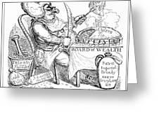 Cholera Doctor, Satirical Artwork Greeting Card by