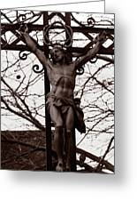 Christ Among The Ruins Greeting Card by Pam Blackstone
