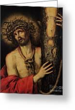 Christ Man Of Sorrows Greeting Card by Antonio Pereda y Salgado