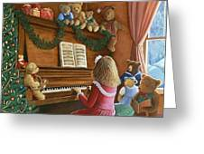 Christmas Concert Greeting Card by Susan Rinehart