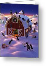 Christmas Decorator Ants Greeting Card by Robin Moline