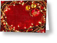 Christmas Frame Greeting Card by Carlos Caetano