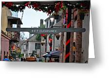 Christmas on Aviles Street Greeting Card by DigiArt Diaries by Vicky B Fuller