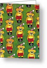 Christmas Teddy Bears Greeting Card by Genevieve Esson