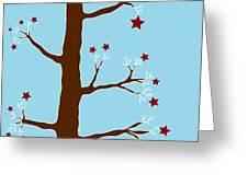 Christmas Tree Greeting Card by Frank Tschakert