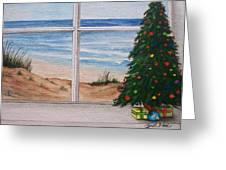 Christmas Window Greeting Card by Brad Hook