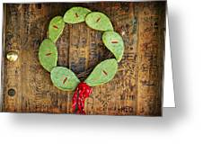 Christmas Wreath Greeting Card by John Gusky