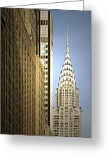Chrysler Building Nyc - Streamlined Majesty Greeting Card by Christine Till
