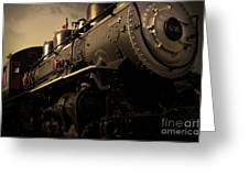 Chugging Across America In The Age Of Steam . Golden Cut . 7d12980 Greeting Card by Wingsdomain Art and Photography