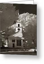 Church In Infrared Greeting Card by Joann Vitali