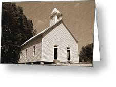 Church In The Mountains Greeting Card by Barry Jones