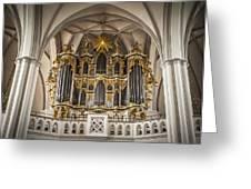 Church Organ Greeting Card by Kurt Forschen