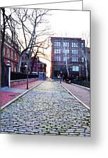 Church Street Cobblestones - Philadelphia Greeting Card by Bill Cannon