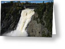 Chutes Montmorency Quebec City Greeting Card by Margarete M Kedl
