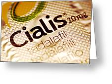 Cialis Packaging Greeting Card by Pasieka