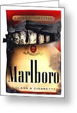 Cigarette Skeleton Greeting Card by Michael Kraus