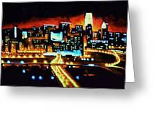 Cincinnati By Black Light Greeting Card by Thomas Kolendra